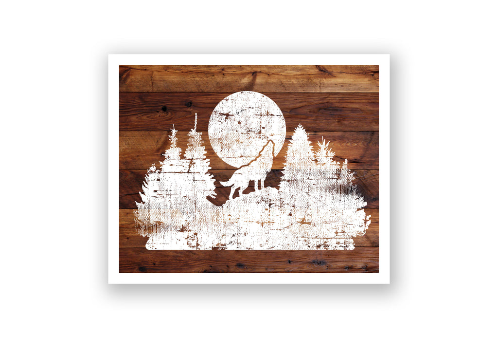 Wooden Wall Art - Wolf