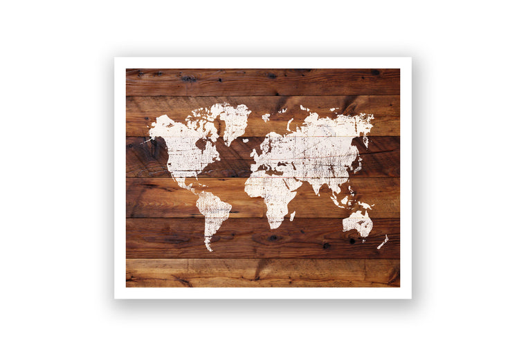 Wooden Wall Art - World Map
