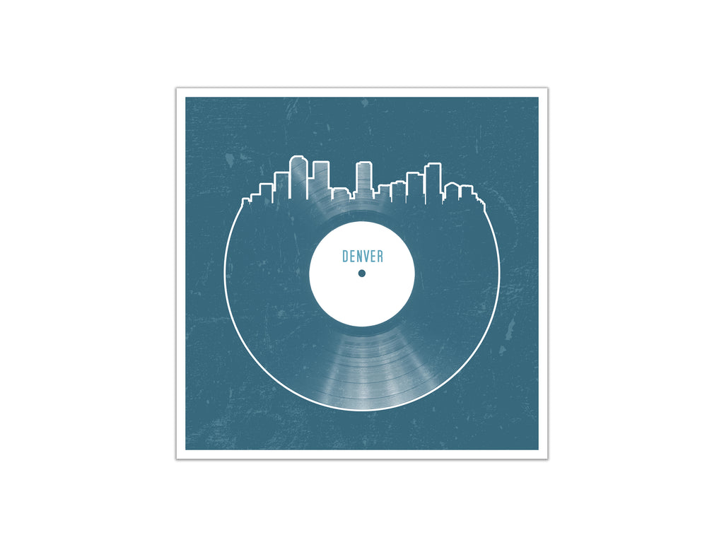 Vinyl Record Skyline - Denver