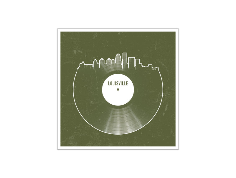 Vinyl Record Skyline - Louisville