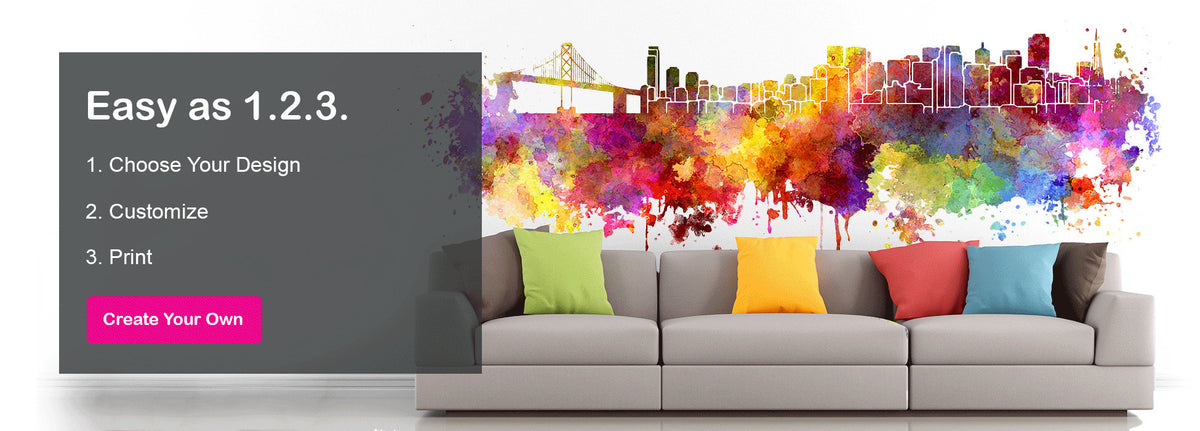 High Quality, Custom Wall Murals, Vinyl Decals And Canvas Prints