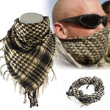Cotton Tactical Shemagh Scarves Beige With Man