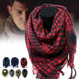 Cotton Tactical Shemagh Scarves Red With Man
