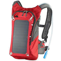15L Solar Panel Hydration Backpack Side View Red