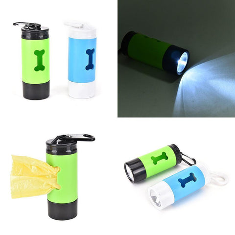 Pet Plastic Waste Bag Holder with LED light