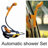 12V Portable Outdoor Automobile Car Shower Set Water Spray Pump Camping Yellow