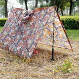 3 in 1 Multifunctional Poncho Woodland Camo Tent