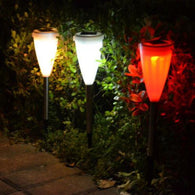 Solar Cone Shaped Lights - 3 Pack