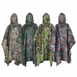 Military Style Polyester Raincoat/Poncho