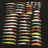 56 pc fishing minnow lure - all view2