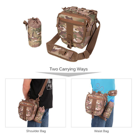 Multi-functional Camouflage Fishing Backpack Waist Pack