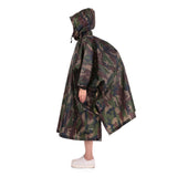 3 in 1 Multifunctional Poncho Army Camo with Man and Backpack