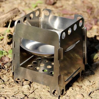 Rugged Folding Outdoor Stainless Steel/Titanium Stove
