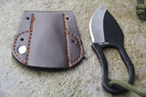 Survival Mini Carabiner Knife with Leather  Pouch