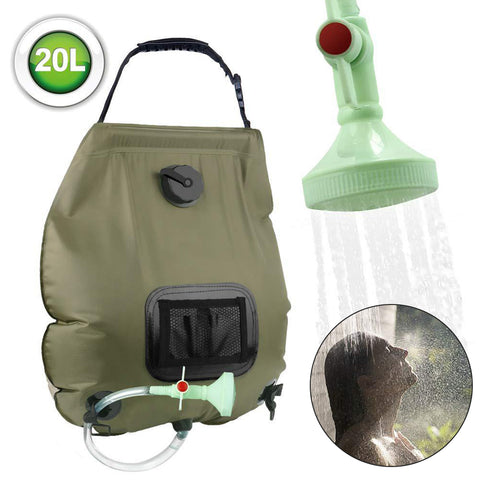 Outdoor 5 Gal Camping Solar Shower Water Bag