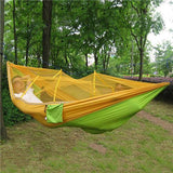 Green with Yellow Screen Hammock