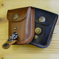 Leather Waist Pouch for Catapult Slingshot Steel Ammo