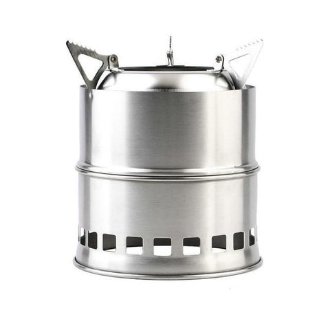 multiple fuel source stainless steel stove