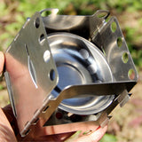 Folding Camp Stove - Outside Top View