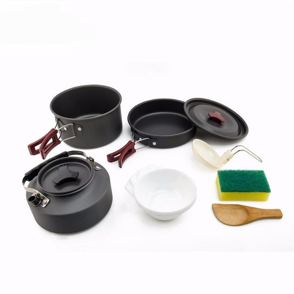 2-3 Person Camping Cookware Set Items View