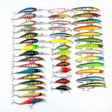 43 Pcs Minnow Fishing Lures Spinning Bait