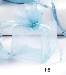 PVC Box Wrapped in Blue Organza