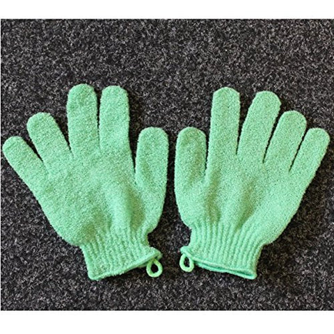 Green Exfoliating Gloves