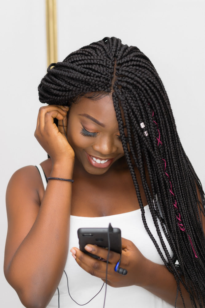 Adaobi Frontal Box Braids Unit