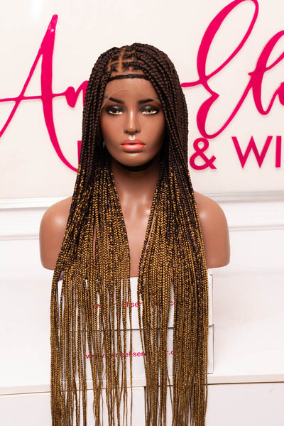 Zoè 360 Frontal Knotless Box Braids Unit