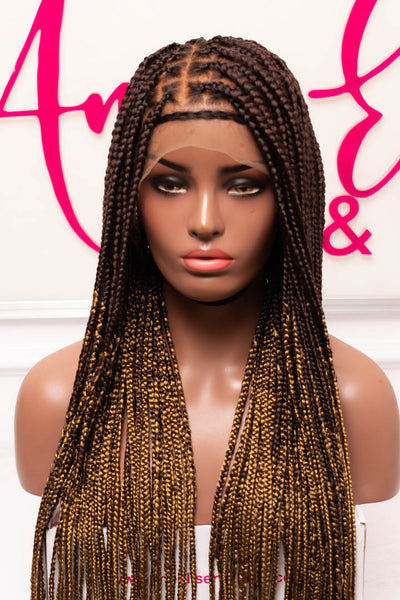 Zoè Frontal Knotless Box Braids Unit