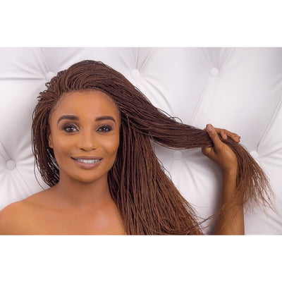 "Amaka Frontal ""Microtwists"" Wig (Medium length)"