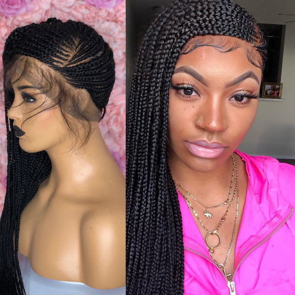"Amaka Closure ""Microtwists"" Wigs- THREE PARTING"