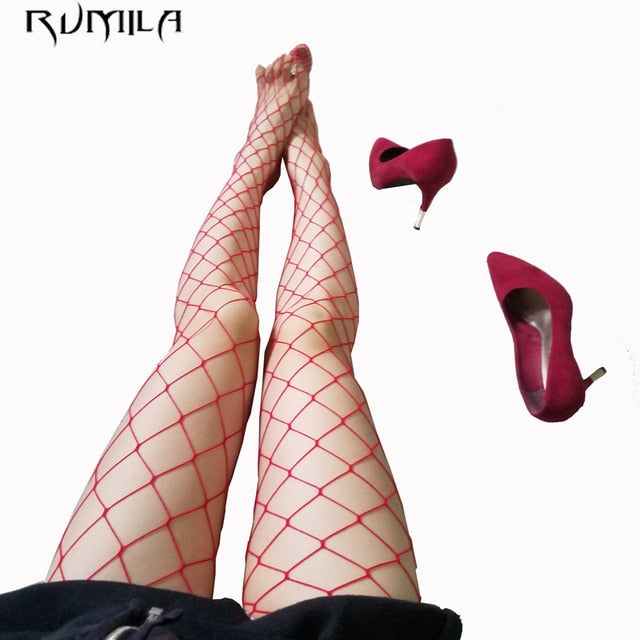 Sexy Pantyhose Women Feminin Black Fishnet Tights Lady Thigh High Stocking Jacquard Sheer Hosiery Stockings Spring tt30