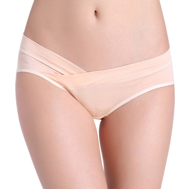 8cb1255872be Cotton Maternity Underwear U-Shaped Low Waist Pregnancy Briefs For Pregnant  women Plus size Panties Clothes YRD