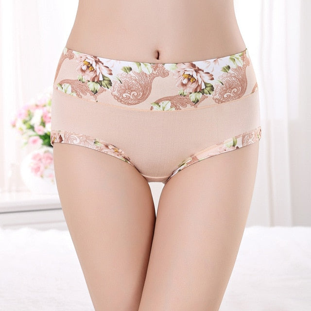 New Underwear Women Panties Floral Cotton Underwear Breifs Sexy Lingeries Thong Tanga Plus Size Calcinhas Underwear For Women