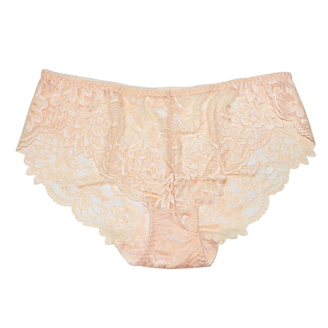 FallSweet Sexy Large Size Briefs Ultra-thin Women's Panties White Lace Panty 4xl