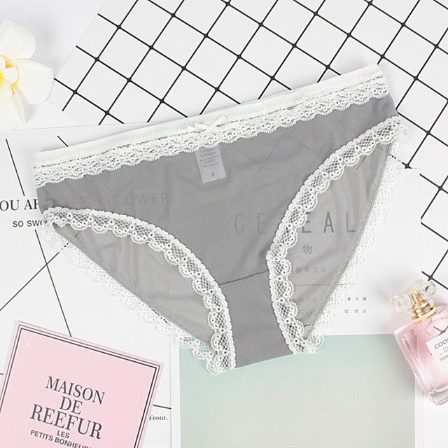 Hot Women Sexy Seamless Panties Fashion Lace Briefs Panty Comfortable Underwear Women High Quality Underpants Intimates Calcinha