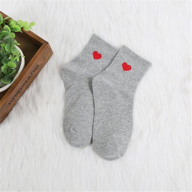 Women Daily Socks Harajuku Korea Japanese Cotton Kitten Flame Ulzzang Socks Men Chinese Cactus Gun Shark Alien Students Socks