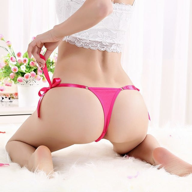 Luckymily Free Size Cotton Lace Thong G-string Lace Sexy Underwear Women's Panties Low Waist string Lingerie Intimates Thongs