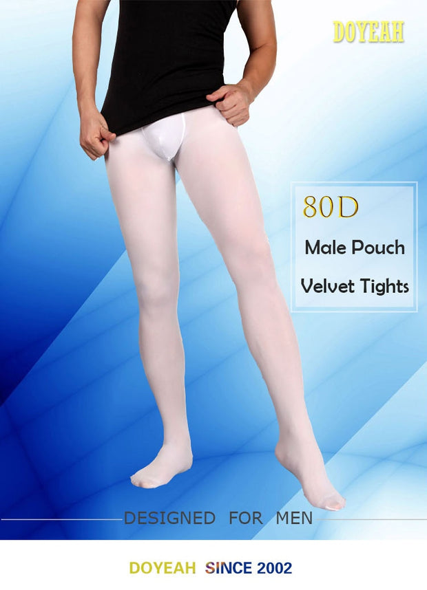 80D Male Pouch Tights Thickened Mat Pantyhose Men's Warm Socks Designed For The Male Anatomy Spring And Autumn Dress DOYEAH 0898
