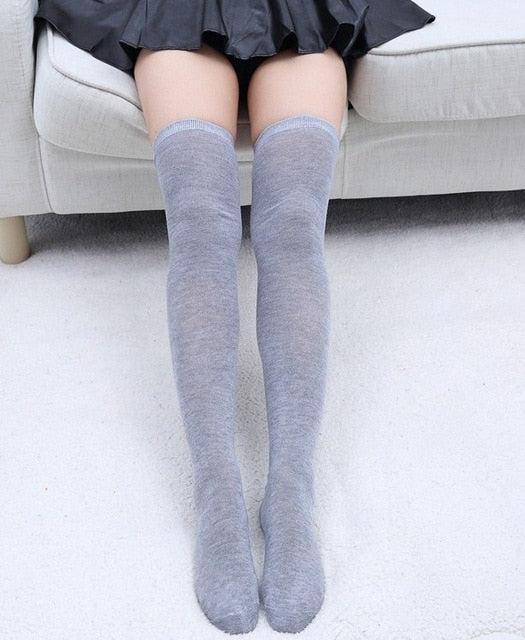 Women Socks Stockings Warm Thigh High Over the Knee Socks Long Cotton Stockings medias Sexy Stocking hot sale