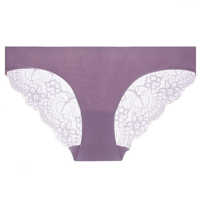 S-3XL!Free shipping!Hot sale!  women's sexy lace panties seamless cotton breathable panty Hollow briefs Plus Size girl underwear