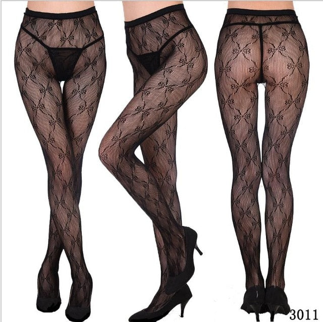 Womens sexy fishnet tights Jacquard weave pantyhose, yarns Garter grid Stockings hose sexy lingerie collant