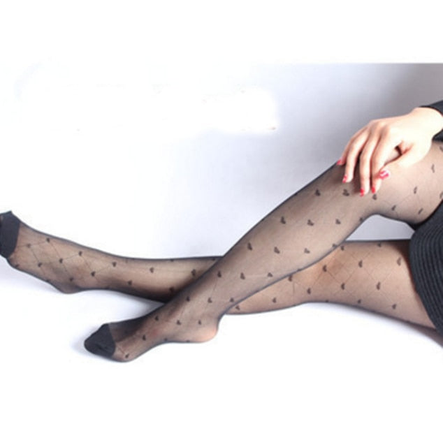 Women's Tights Classic Small Polka Dot Silk Stockings.Thin Lady Vintage Faux Tattoo Stockings Pantyhose Female Hosiery