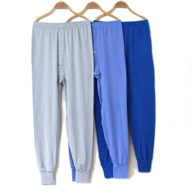 High Waist Winter Men Long Johns Thicken Sexy Mens Under Pants Bottoms Pajama loose Legging Warm Long Johns By Random Color