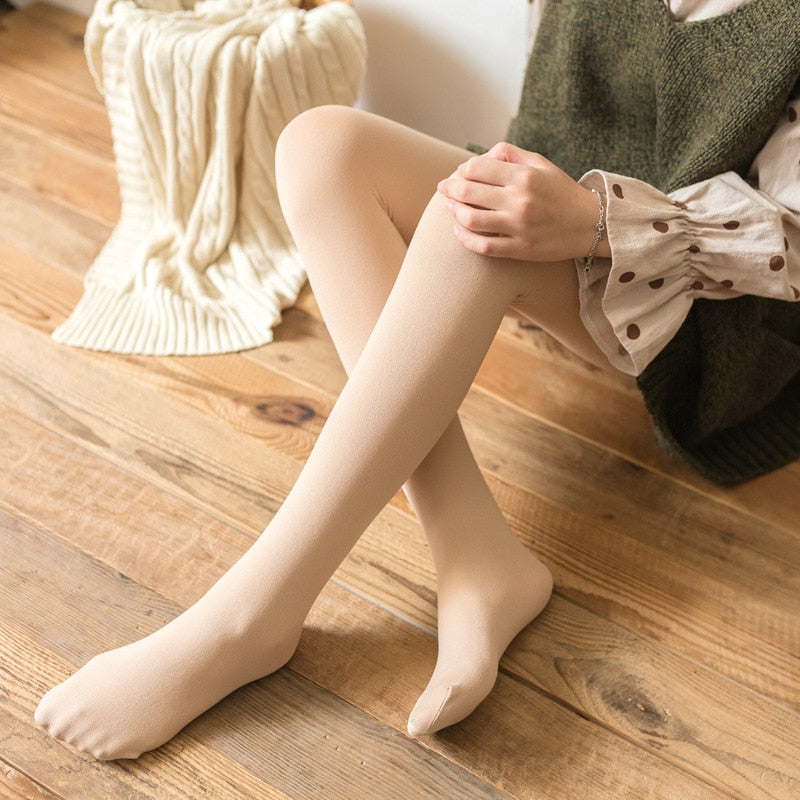 e8503ed00 2019 New Hot Sale Winter Warm Women Stockings Beauty Girls Thick Stockings  Pantyhose Opaque Footed Tights