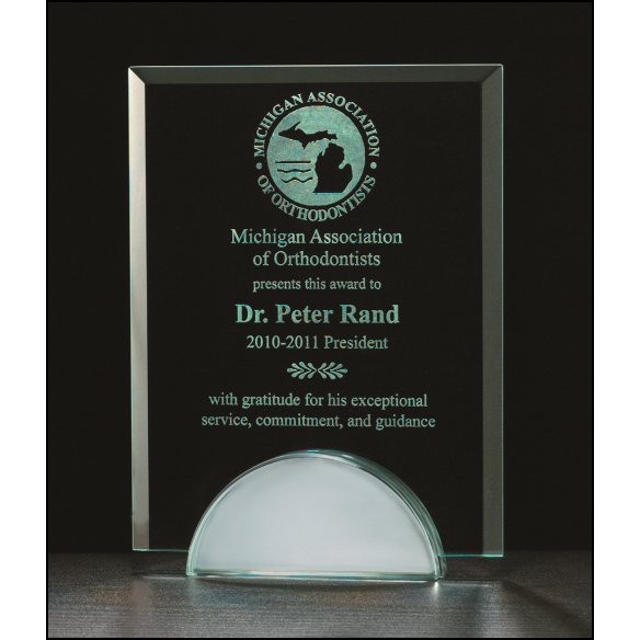 Apex Series Glass Award with mirror base.