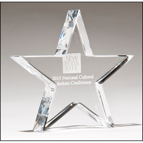 Crystal star paperweight.
