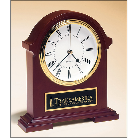 Napoleon Clocktraditional styling with deep, hand-rubbed mahogany finish.