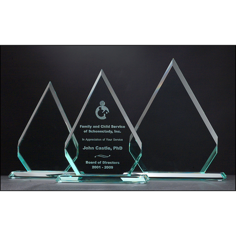 Diamond Series Glass Award.